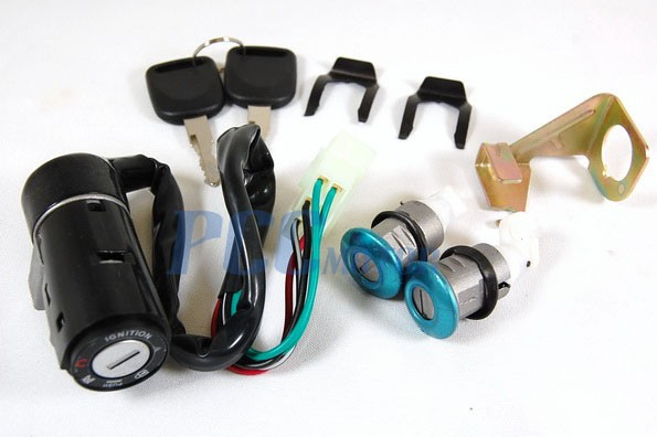 Details about Ignition Switch Key Set 5 Wire 150cc Roketa Jonway Moped on