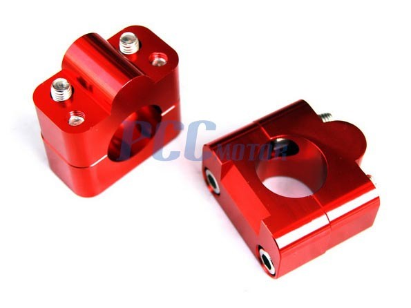 "1 1//8/"" to 7//8/"" Universal Bar Clamps Taper handlebar BLUE ATV DIRT BIKE V CL11"