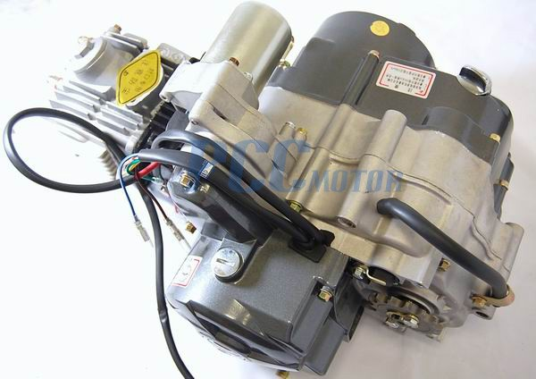 110cc engine motor automatic electric start w/ kickstart ... 110 cc engine electric start diagram lifan 110 cc mini chopper wiring diagram #1