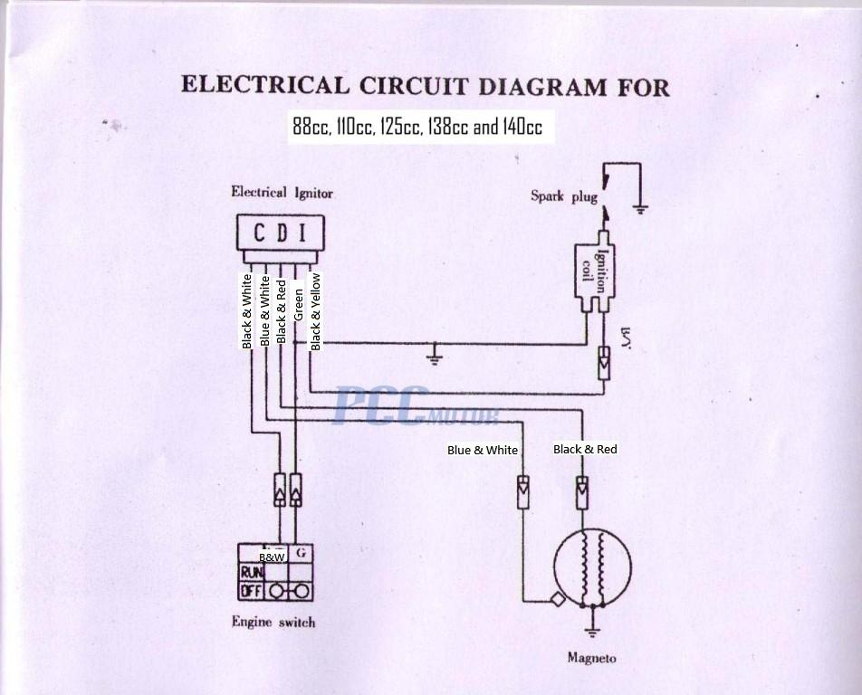 Exelent Pit Bike Wiring Diagram Electric Start Photos Electrical