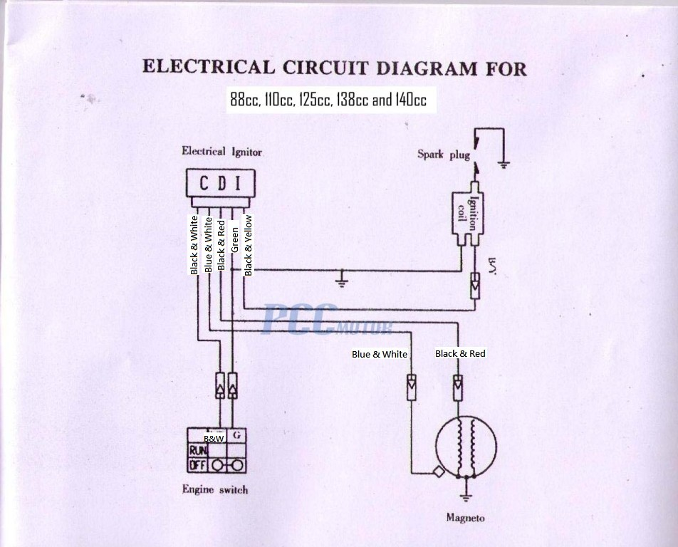 baja 50 atv wiring diagram baja 90 atv electrical diagram