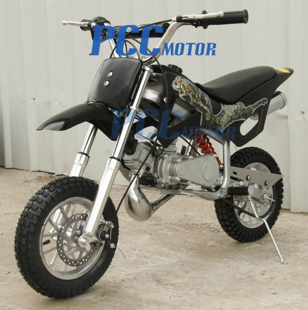 kids 49cc 2 stroke gas motor mini pocket dirt bike free s h black h db49a ebay. Black Bedroom Furniture Sets. Home Design Ideas