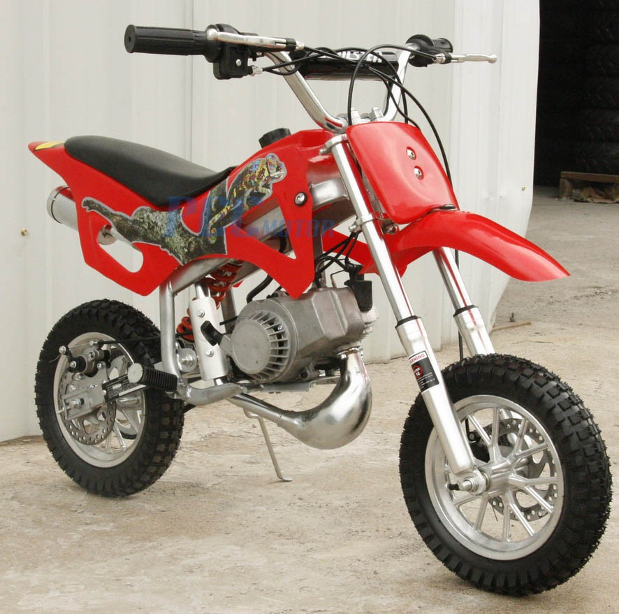 FREE SHIPPING KIDS 49CC 2-STROKE MOTOR MINI BIKE DIRT POCKET BIKE RED H DB49A | eBay