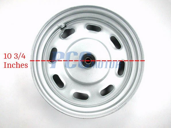 """NEW aluminum 10 inch 10/"""" motor scooter front rim wheel moped part Blue GY6"""
