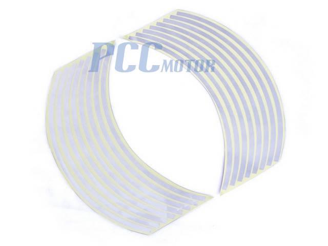 "10/"" Car Bike Motorcycle Rim Stripe Wheel Tape Decal Sticker V DE55"