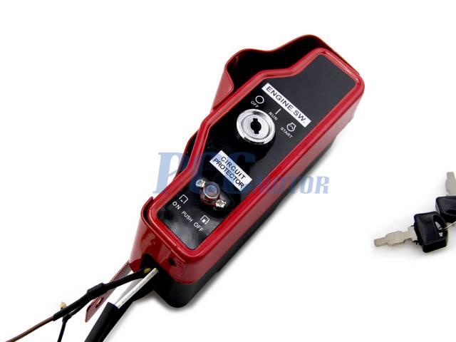dirt bike wiring diagrams honda ignition key switch box w keys gx340 11hp gx390