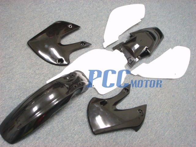 7PCS WHITE PLASTIC FAIRINGS FOR KAWASAKI KLX 110 DRZ110 KLX DRZ 110 9 PS18