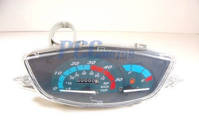 details about gy6 50 150cc scooter moped speedometer km mp light gas gauge  jonway roketa sd16