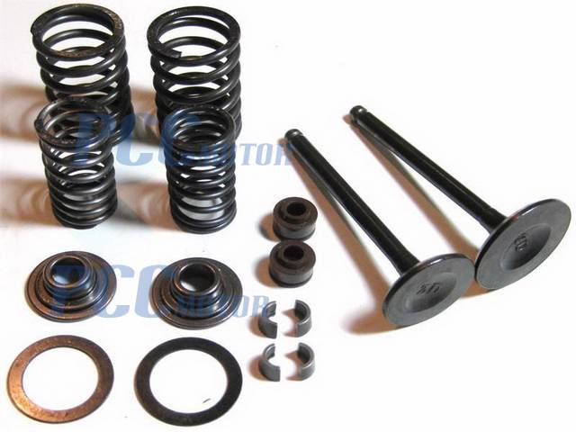 VALVES ASSEMBLY SET COMPLETE 150cc GY6 4 STROKE CHINESE SCOOTER 157QMJ I VV03