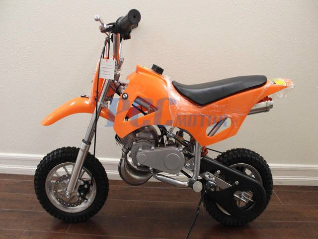 free shipping kids 49cc 2 stroke gas motor dirt mini pocket bike orange h db49a ebay. Black Bedroom Furniture Sets. Home Design Ideas