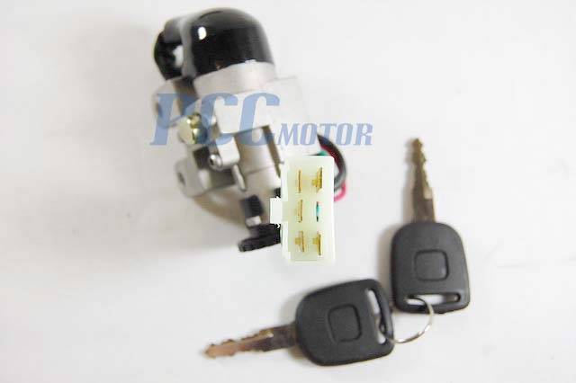 5 wire ignition key switch lock system 49cc 50cc scooter. Black Bedroom Furniture Sets. Home Design Ideas