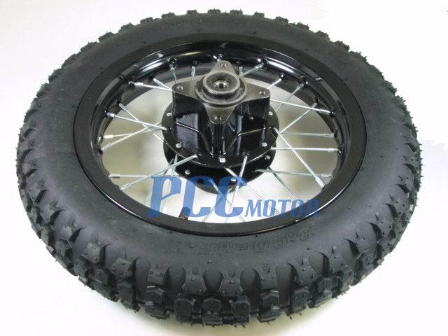 12 Rear Rim Wheel Tire Disc Brake Pit Bike 12mm Bearing Size I Wm09k Ebay