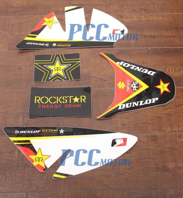ROCKSTAR GRAPHICS DECAL STICKERS HONDA CRF50 SDG SSR PISTERPRO 125 I DE45