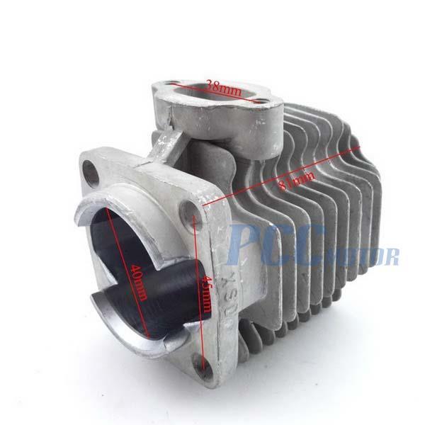 2 stroke 49cc 40mm Cylinder Head Piston Kit Mini Pocket