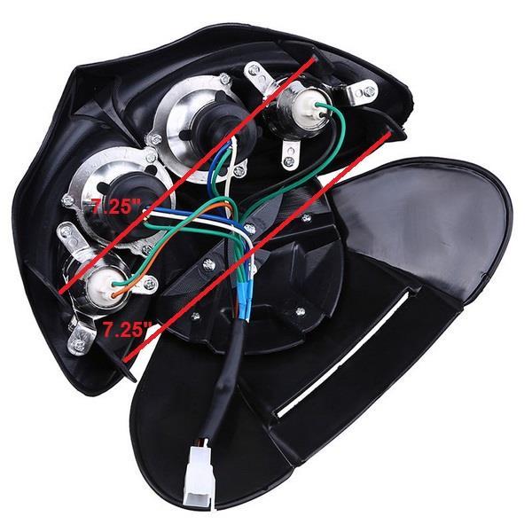 12V 5 Wires Pit Dirt Bike Motorcycle Headlight Light Lamp