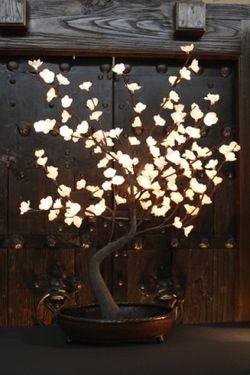 New Raz Lighted Orange Willow Branch Glitter 39 Inches