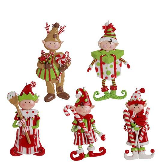 Elf Conga Line Christmas Tabletop Decoration Dancing Candy