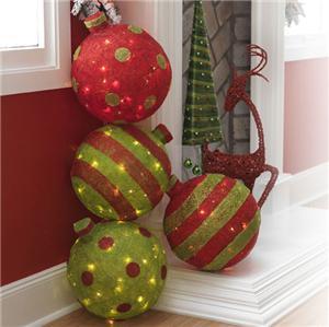NEW RAZ Imports SA Lighted Christmas decoration Large Ball ...