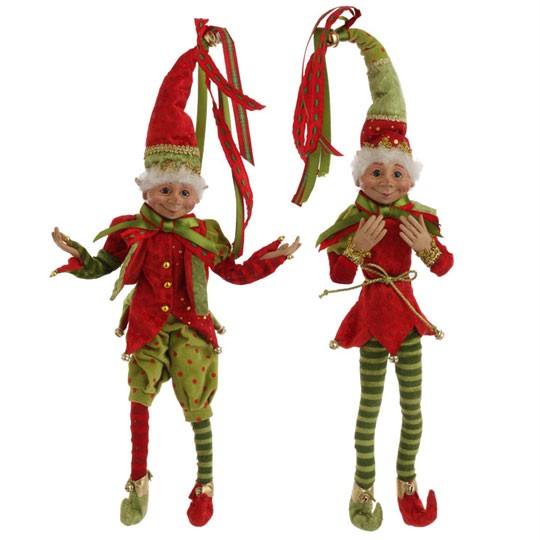 Red And Green Braided Christmas Garland 5 Ft Twisted RAZ