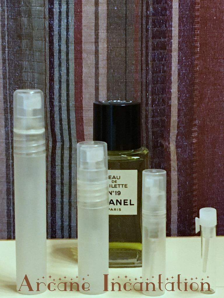 Image 0 of Vintage Chanel No. 19 Eau de Toilette Samples (Original Formulation)