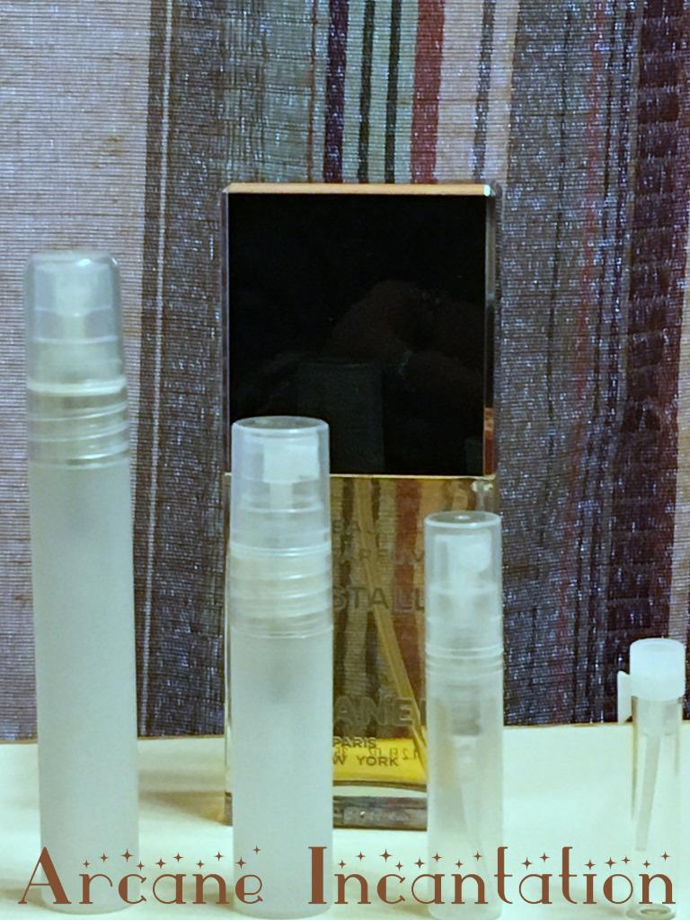 Image 0 of Vintage Chanel Cristalle Eau de Parfum Samples (Original Formulation)