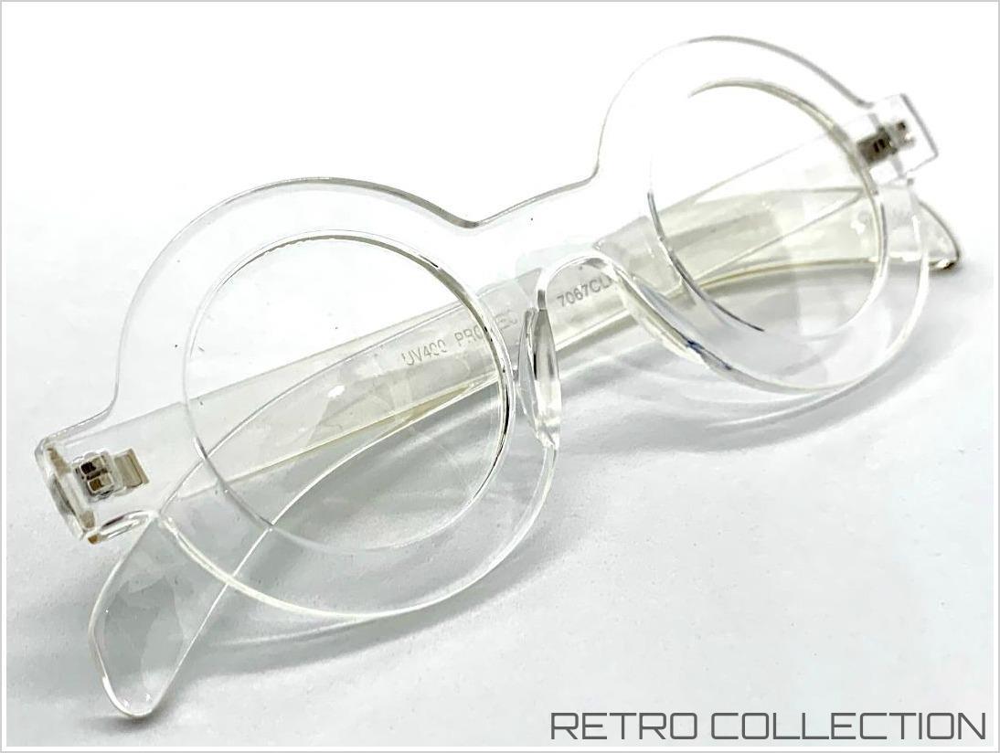 Klassisch Sophisticated Professor Waldo Brillen Rund Kristall Klar Rahmen Linse