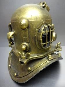 Devoted Vintage Antique Brass Divers Clock Diving Helmet Collectable Desk Decorative Ture 100% Guarantee Antiques