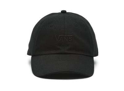 e3a87833 Details about Vans Off The Wall 100% Cotton Court Side Black On Black  Strapback Hat NEW NWT