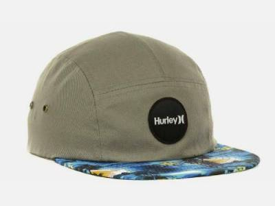 6f761a1ee3933 Hurley Cali Cruiser 5 Panel Hat Mens Gray Soft Crown Camper ...