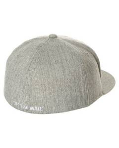 e204e23b Vans Off The Wall Heel Scab Flexfit Mens Gray Ball Hat Cap Wool Flex ...