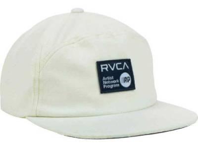 White RVCA Men/'s B-McGee Snapback Hat Cap