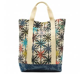 b5b42319e3 Details about Vans Off The Wall Gregg Kaplan Leaf Print Cotton Canvas Tote  Bag New NWT