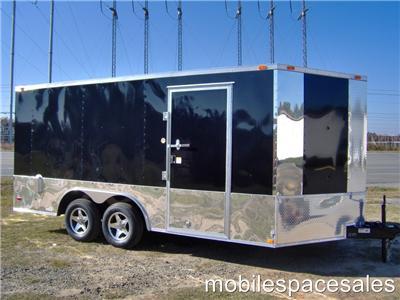 16 plus 2ft v nose 18 inside car hauler enclosed motorcycle cargo