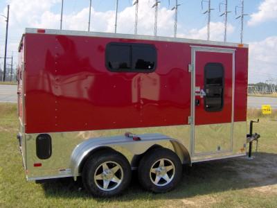 7x12 enclosed atv cargo motorcycle trailer windows