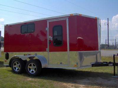 7x12 enclosed ATV cargo motorcycle trailer / windows
