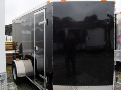 6x12 enclosed ATV cargo motorcycle trailer white or black NEW