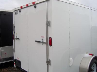 6x12 enclosed ATV cargo motorcycle trailer black NEW