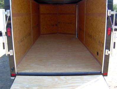 7x16 enclosed ATV cargo motorcycle trailer black NEW
