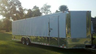28 plus 2ft v nose 30ft inside enclosed cargo motorcycle trailer car