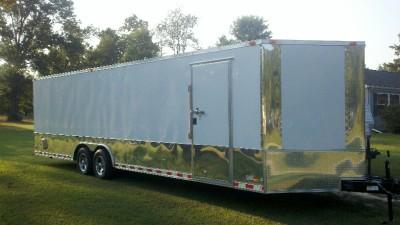 28 enclosed ATV cargo motorcycle trailer car hauler NEW