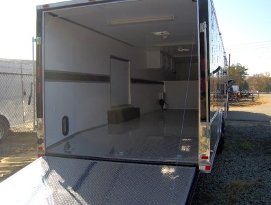 hauler enclosed motorcycle cargo trailer NEW 24ft deck 8 ft g