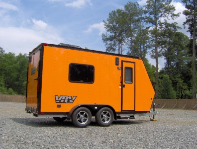 6x15 camper enclosed motorcycle cargo trailer toy hauler A/C work and