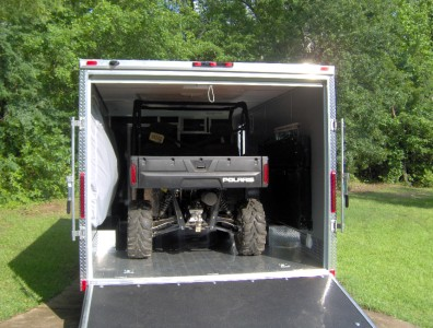 5x18 camper enclosed motorcycle cargo trailer toy hauler A/C work