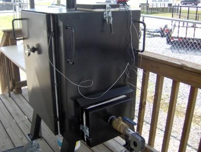 Haydenator Smoker Bbq Pit Catering Charcoal Gravity Feed Patio Boy
