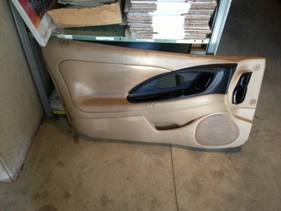 95 99 Mitsubishi Eclipse Talon Tan Leather Black Interior Power Door Panels 2G