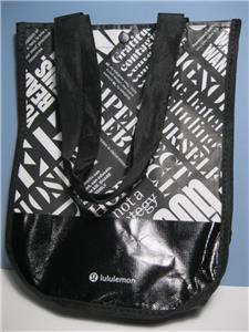 Reusable Lululemon LULU LEMON Clothes SMALL BLACK SHOPPING BAG 12
