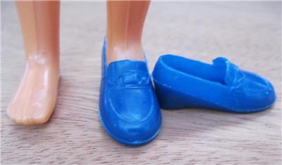 5530c139cf4 VINTAGE barbie 1970s Sunshine Family GRANDPA DAD STEVE-BLUE PENNY LOAFER  Shoes