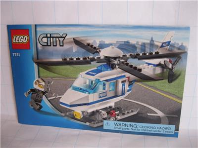 Lego City 7741 Police Helicopter Instruction Manual Booklet