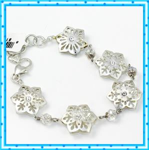 NWT Brighton WINTER FROST Holiday Christmas Snowflake Bracelet MSRP $78