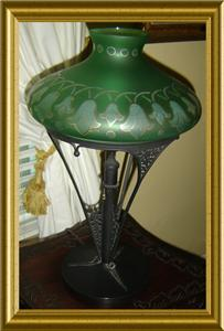 MFG. CO* ART DECO TABLE LAMP CIRCA 1925 WITH PROFESSIONAL APPRAISAL